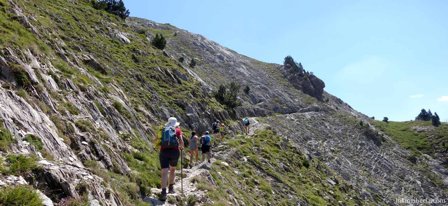 Ascent to the Pico Salbaguardia