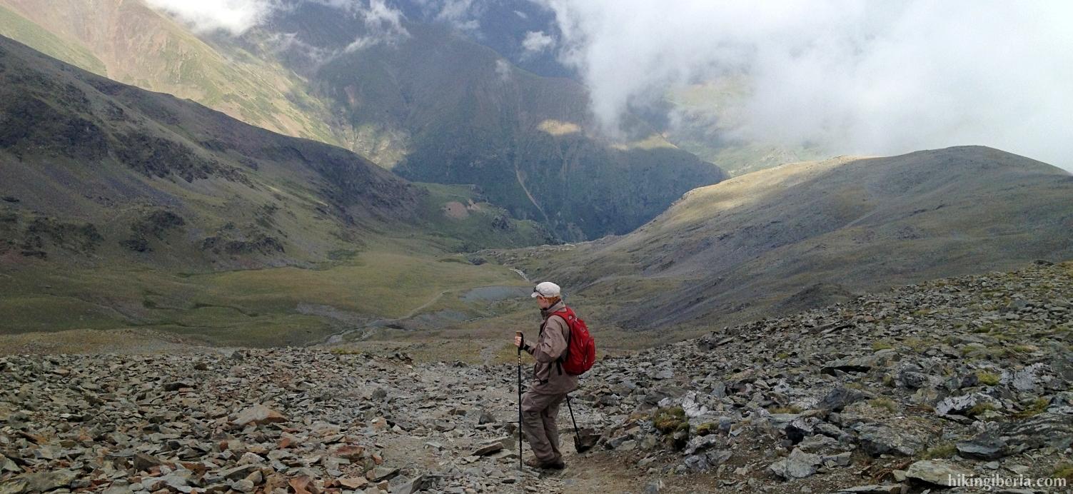 Afdaling vanaf de Puigmal