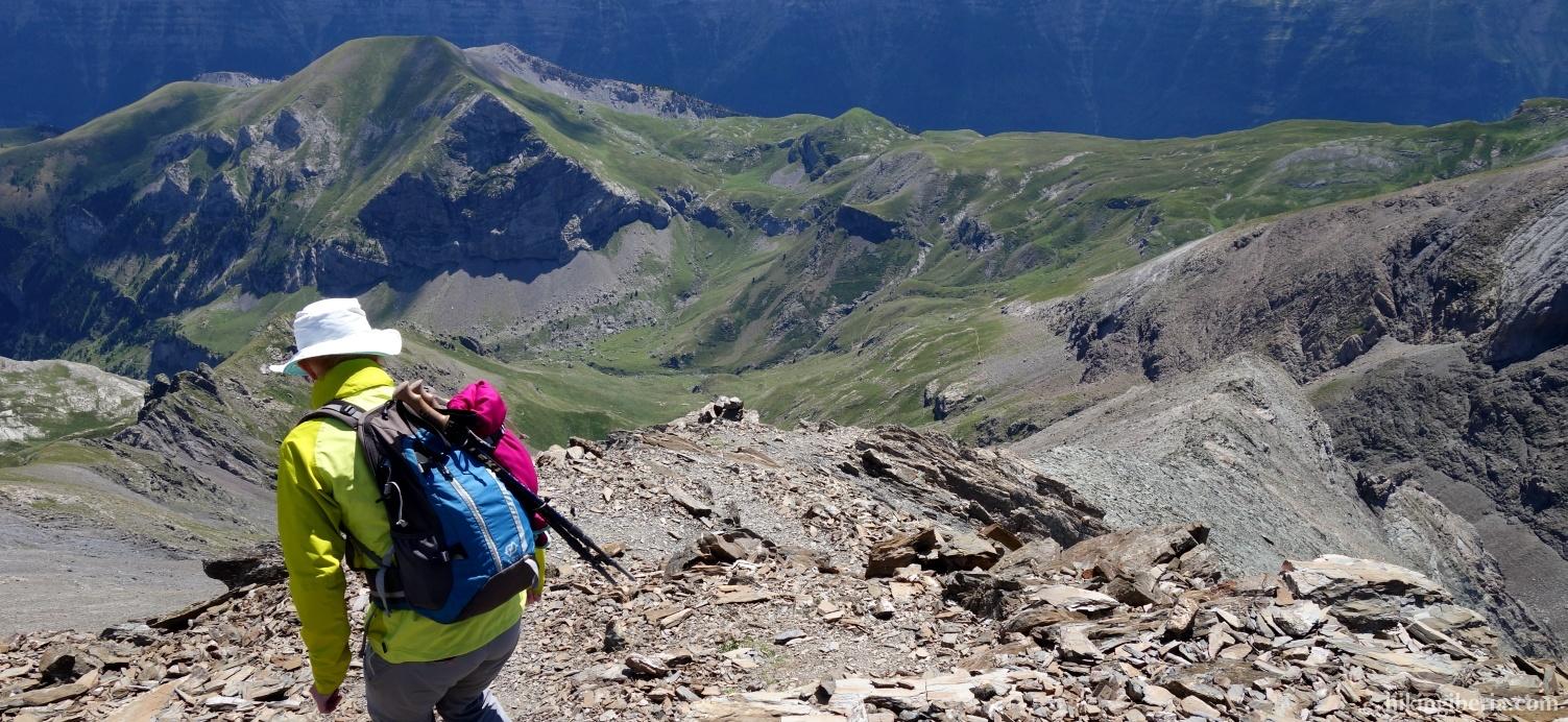 Afdaling vanaf de Pico Robiñera
