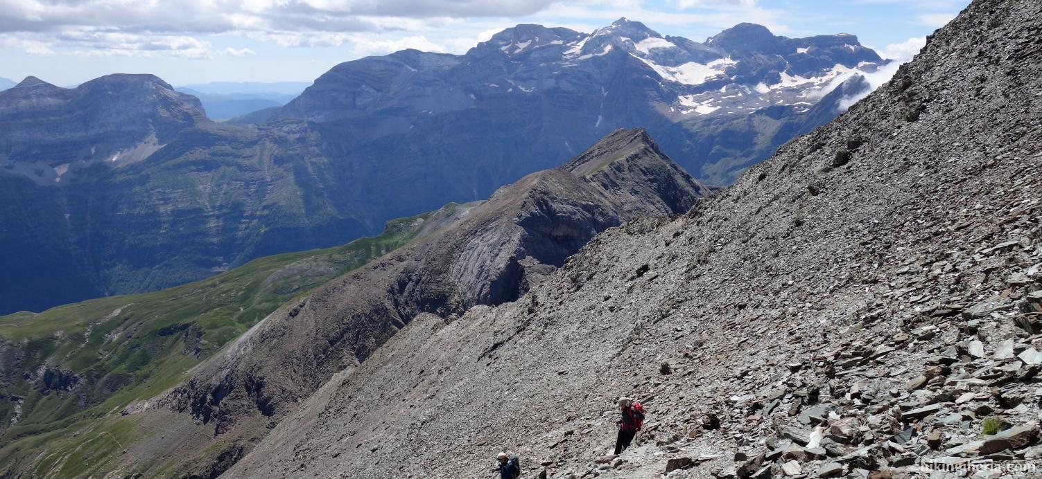 Aussicht auf dem Abstieg vom Pico Robiñera