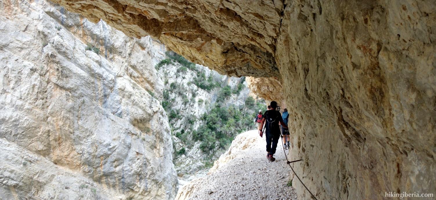 Trail through the Congost de Mont-Rebei