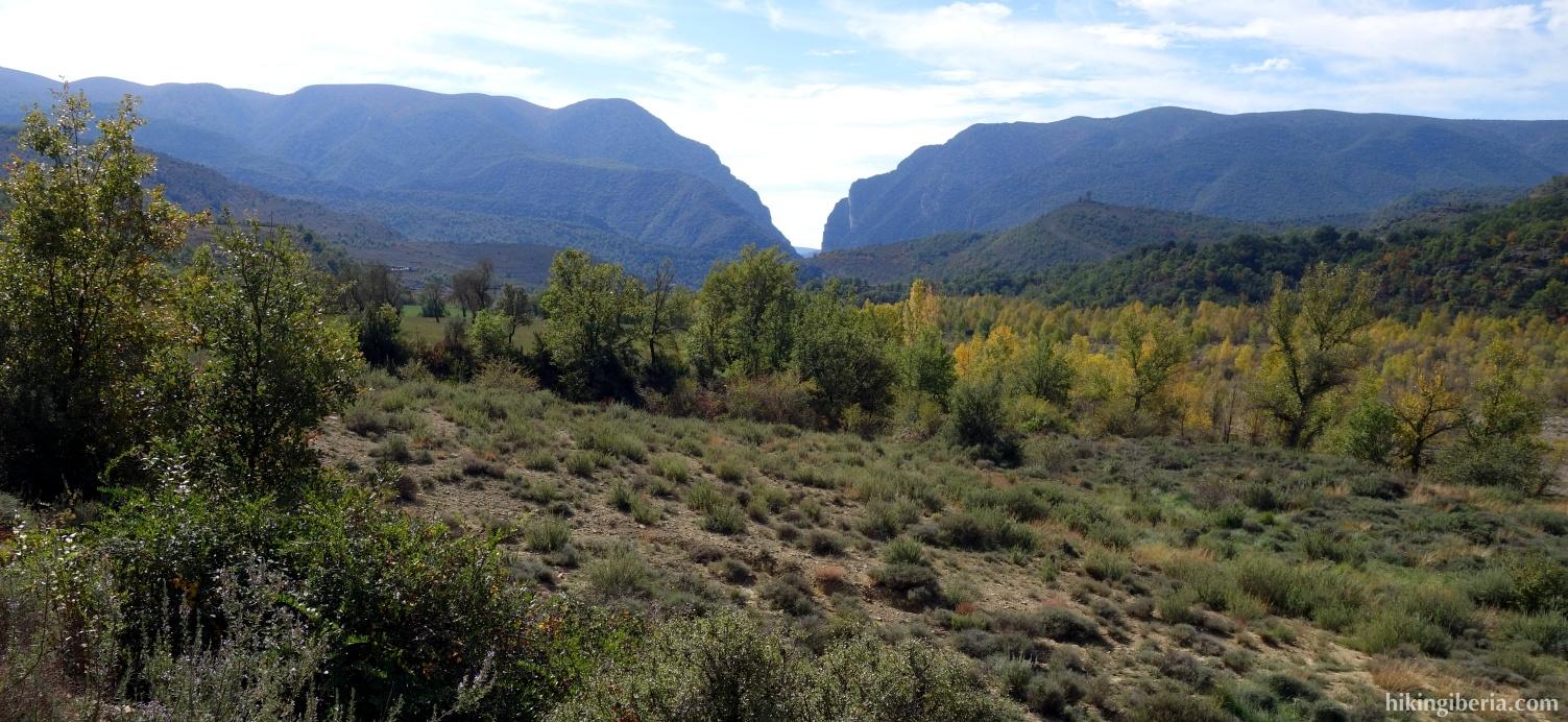 Vista hacia el Congost de Mont-Rebei