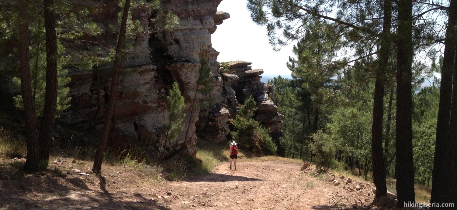 Descent from the Pico de la Zorra