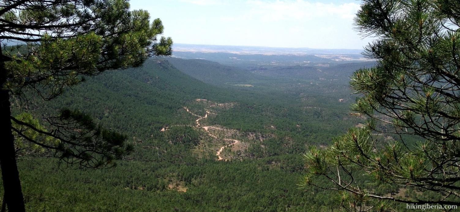 Uitzicht vanaf de Alto del Telégrafo