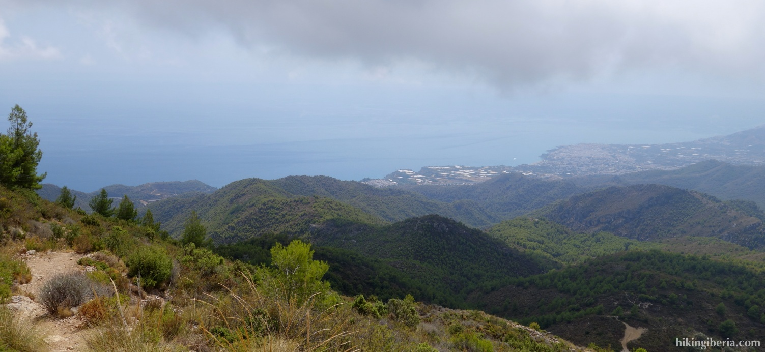 Vista hacia el Mar Mediterráneo