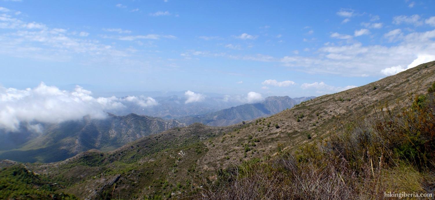 View on the Sierra de Almijara