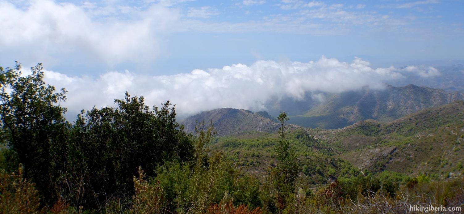 Vista sobre la Sierra de Almijara
