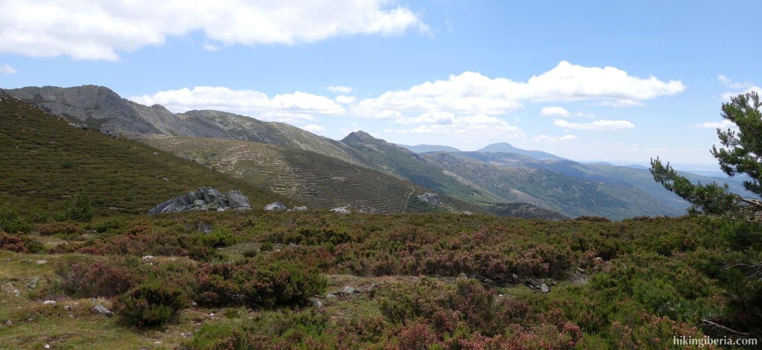 Uitzicht vanaf de Collado de la Lagunilla