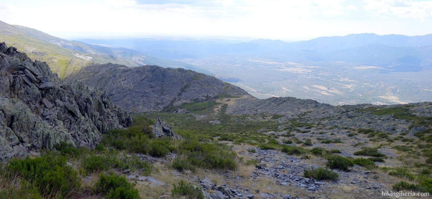 Aussicht während des Aufstiegs zum Campachuelo