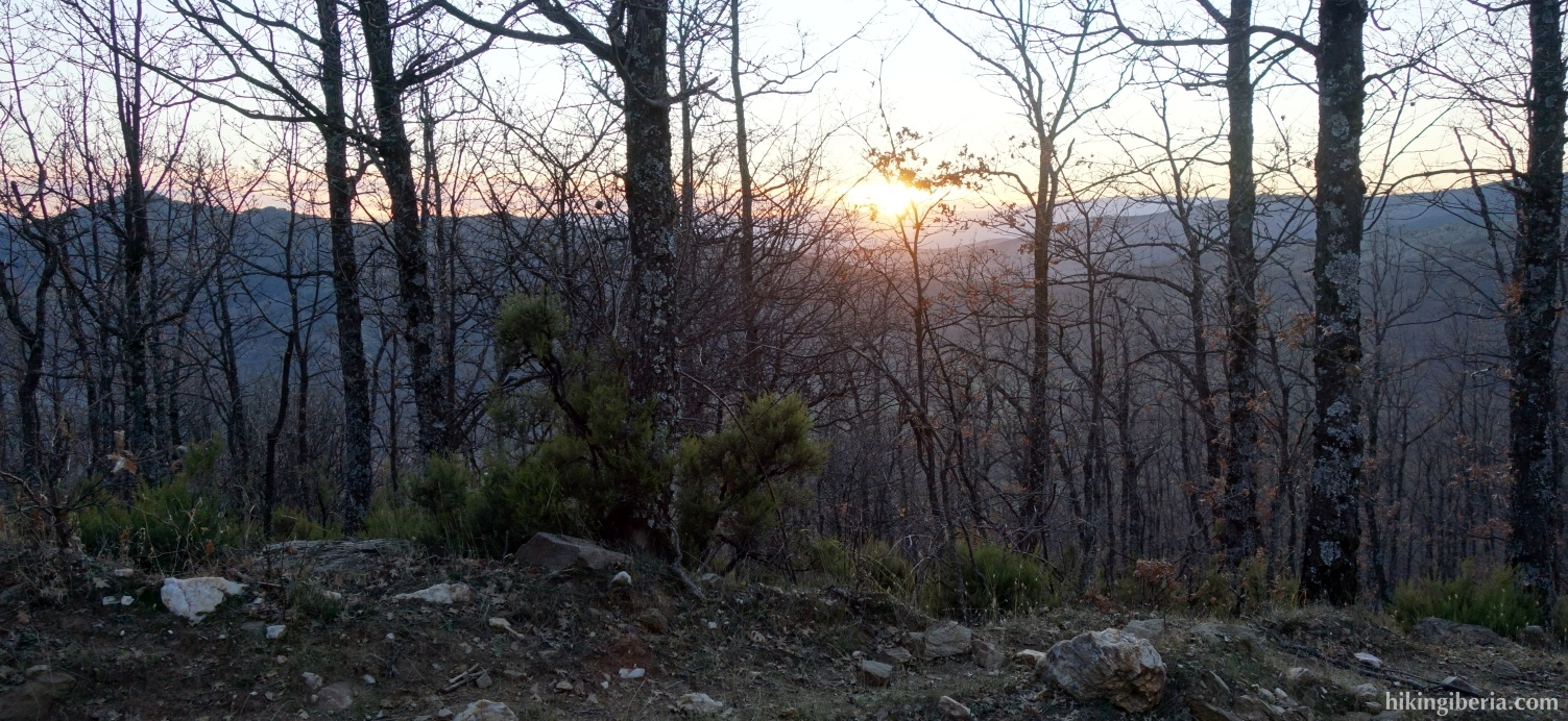 Sunset near El Cardoso de la Sierra