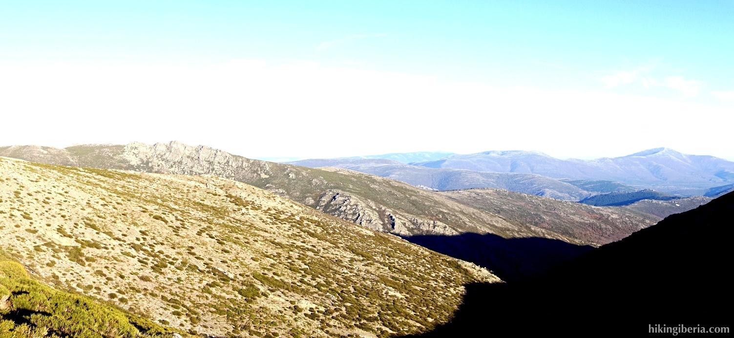 Uitzicht vanaf de Collado de Ortigosa