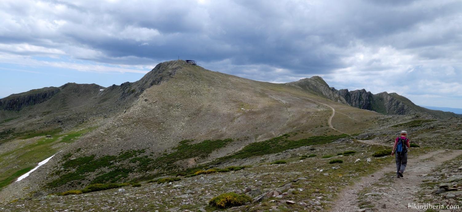 Pad richting de Pico del Lobo