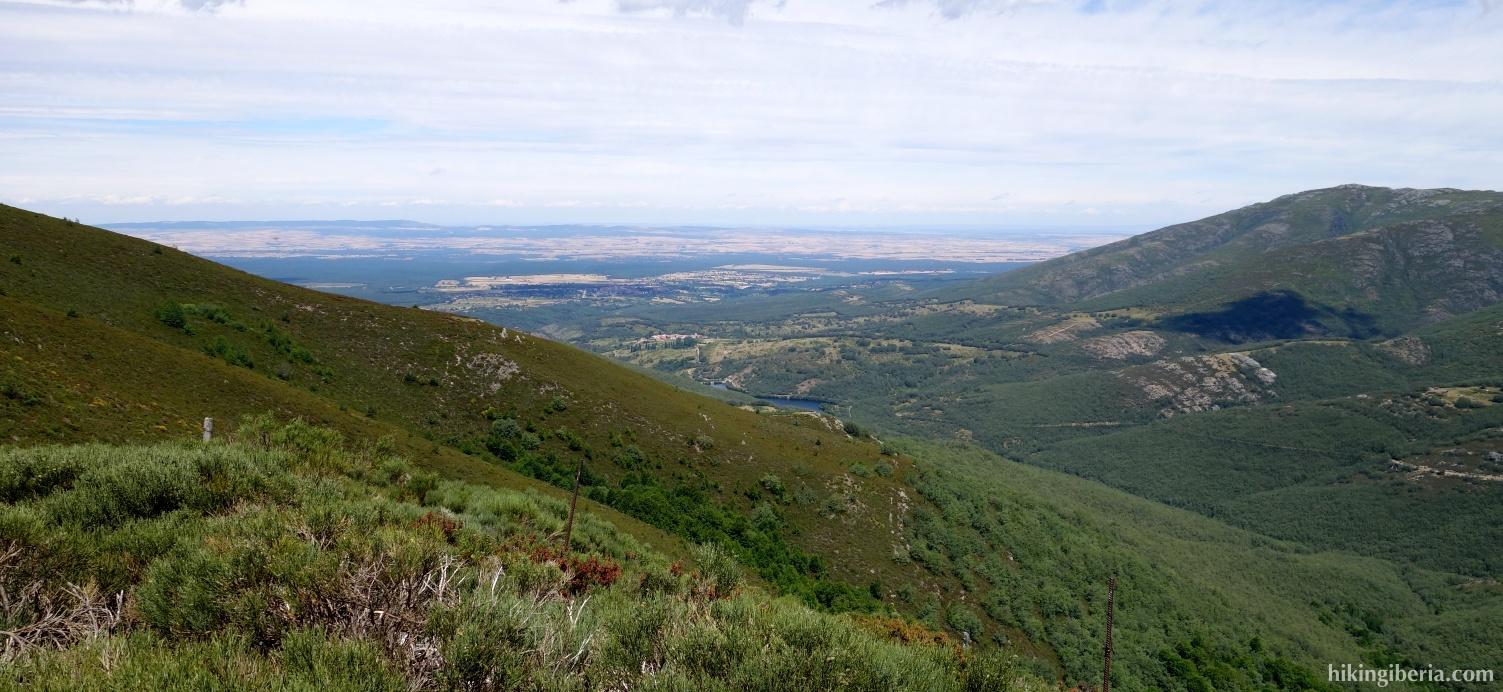 Uitzicht vanaf de Lomo de las Caseruelas