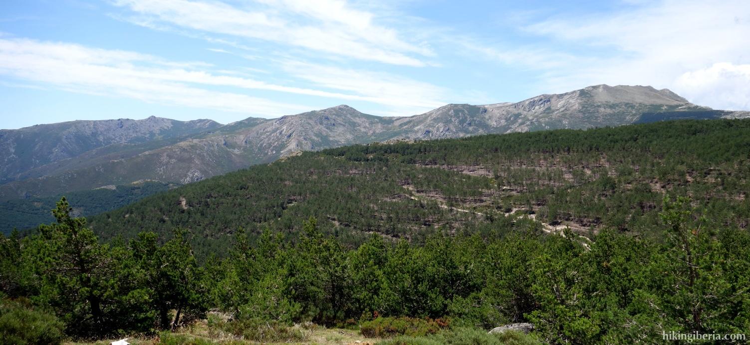 View from the Lomo de las Caseruelas