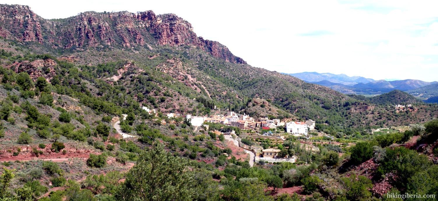 Uitzicht op Segart