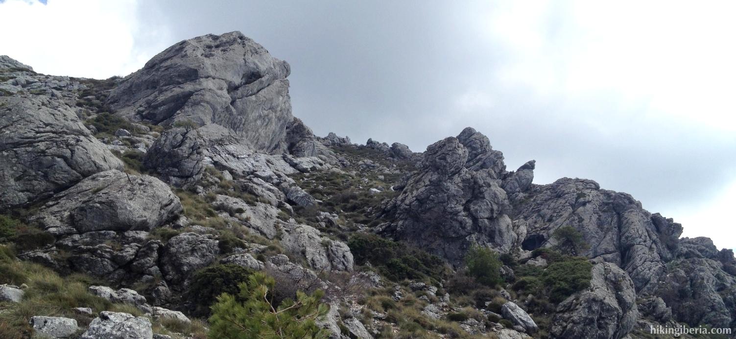 Abstieg über Los Castellones