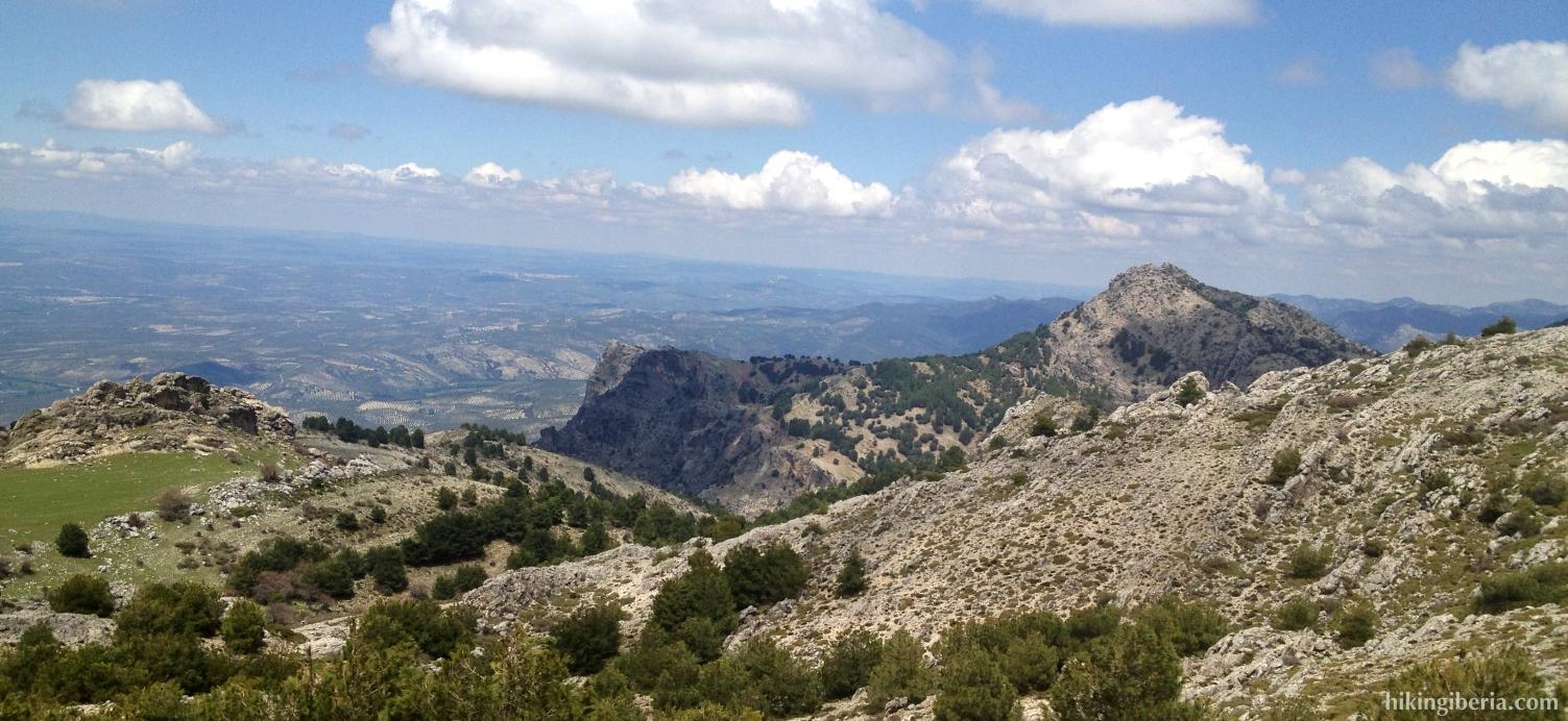 Uitzicht vanaf de Loma de los Castellones
