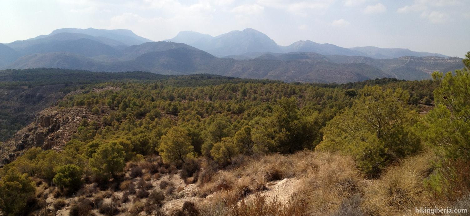 View on the Sierra Espuña
