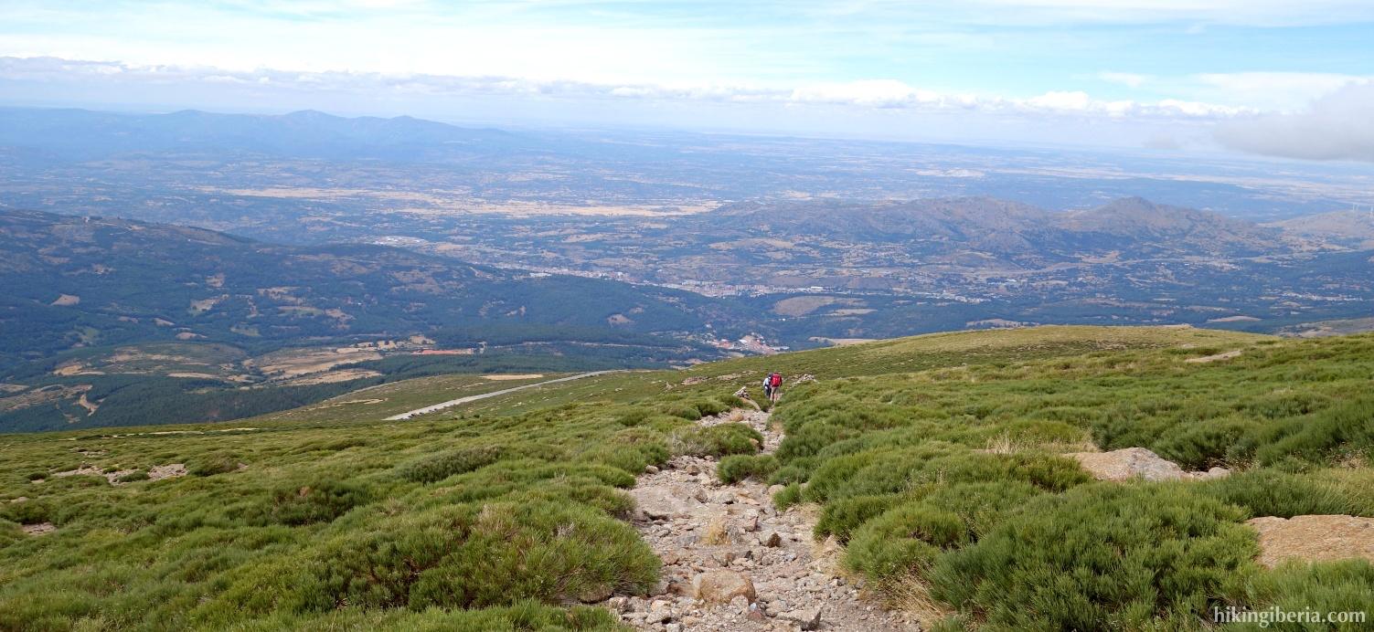 Descent to the Plataforma el Travieso