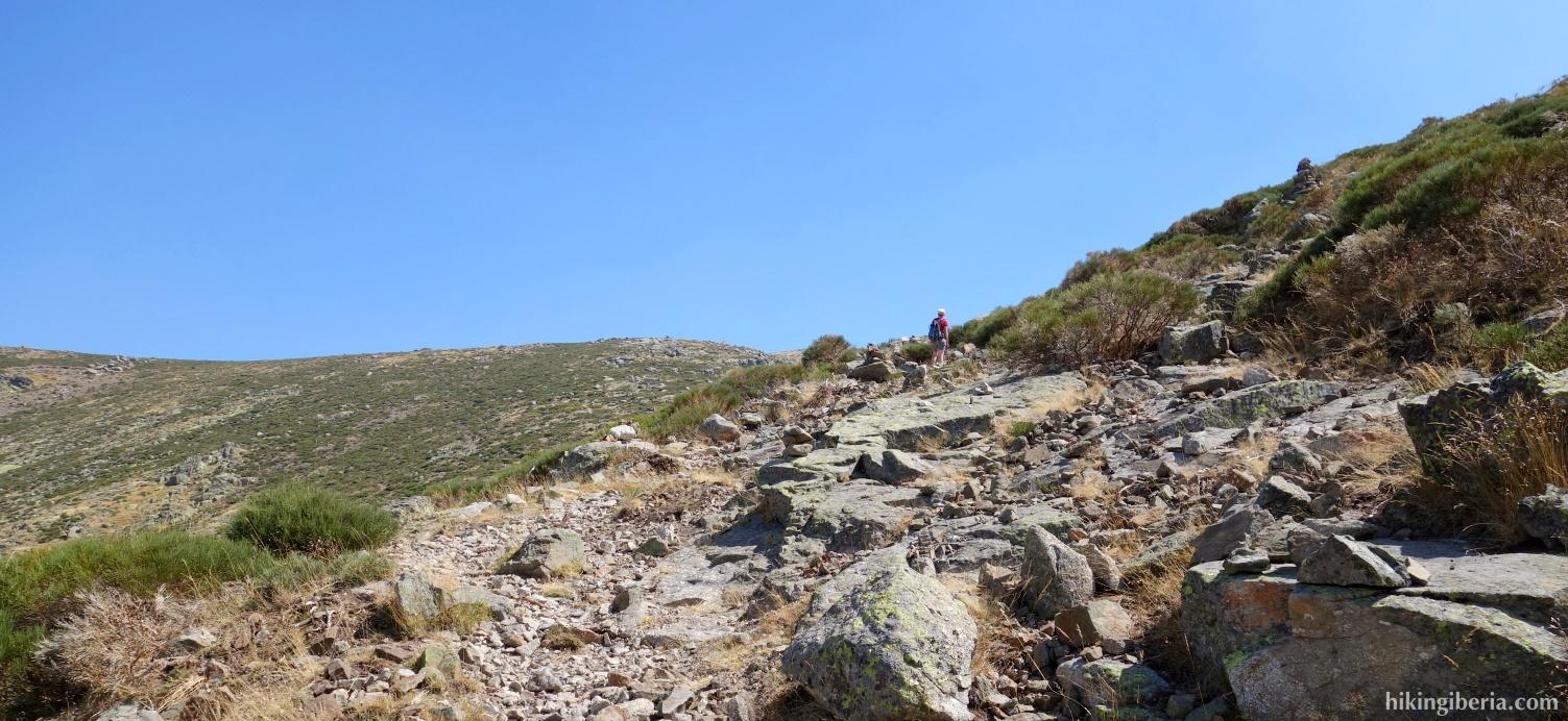 Ascenso hacia el Puerto del Peón