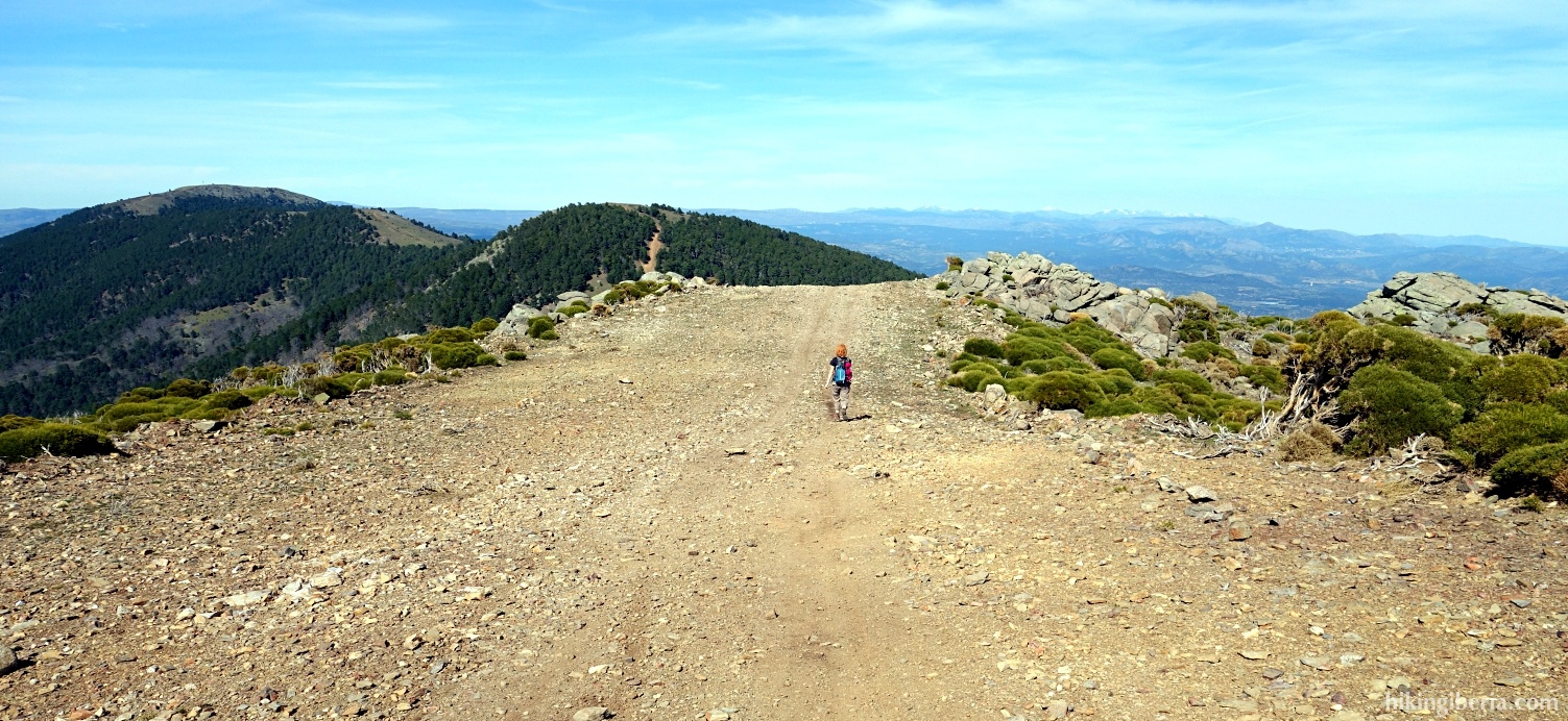 Trail towards the Cerro de la Encinilla