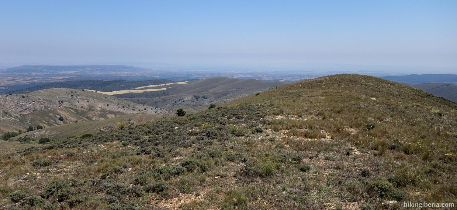 Uitzicht vlakbij de Peñas de Herrera