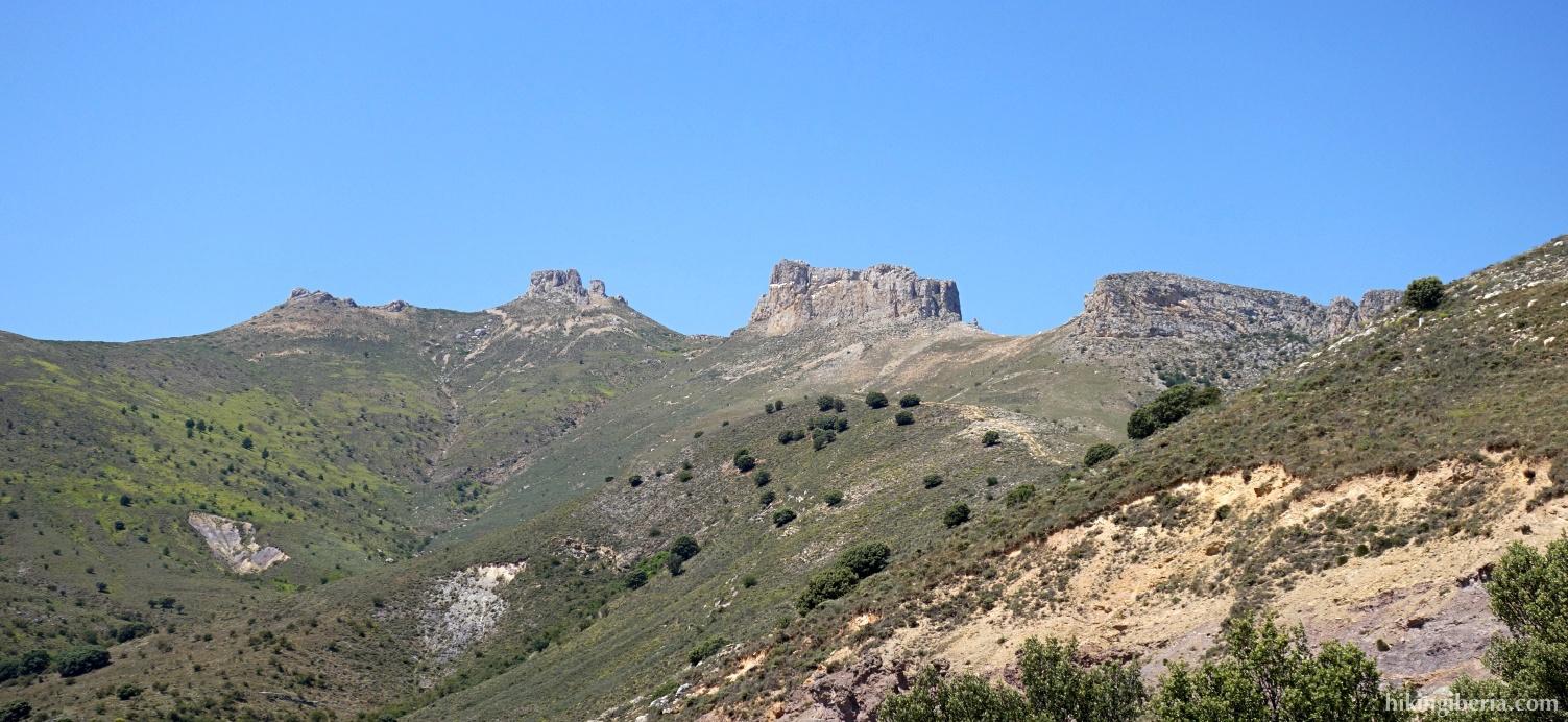 View on the Peñas de Herrera