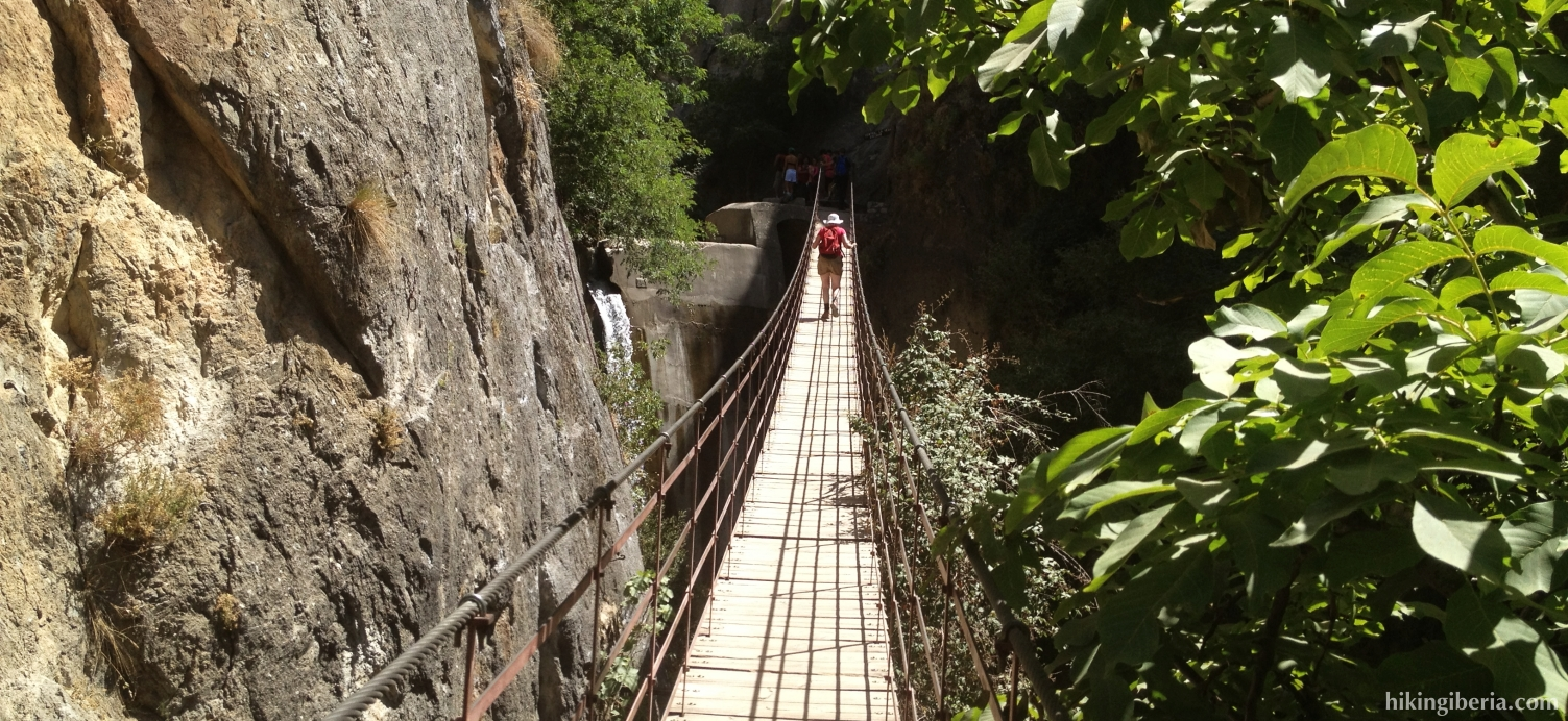 Suspension bridge to the Cahorros