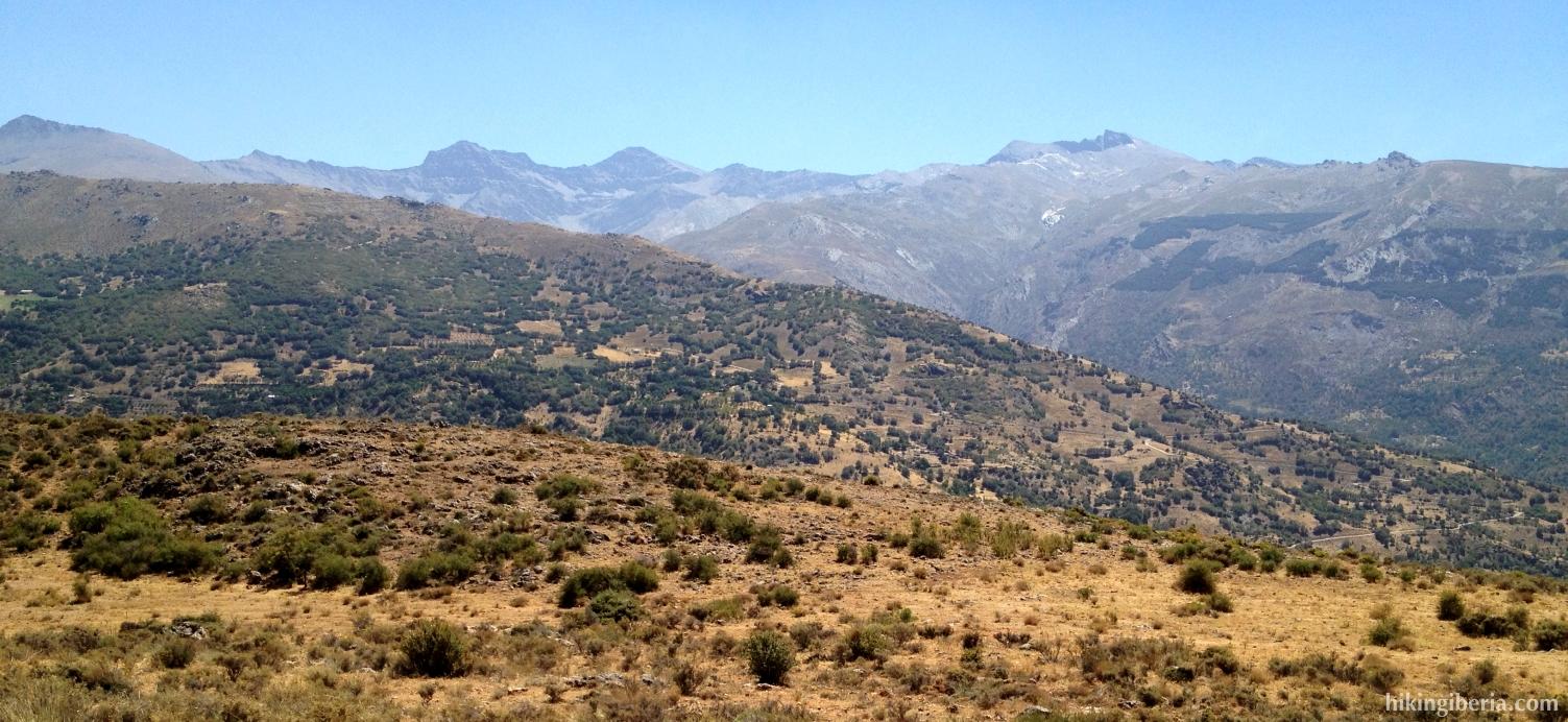 Uitzicht vanaf de Collado de la Gitana