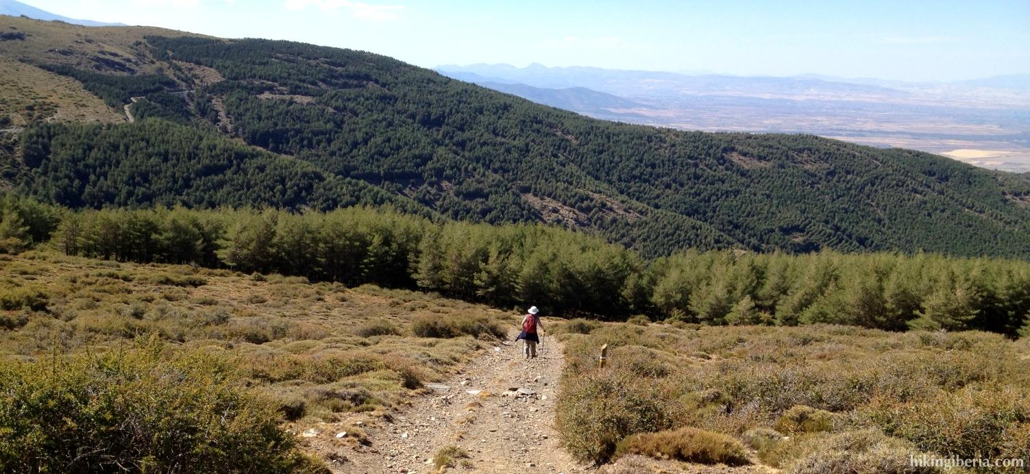 Descent to the Collado Cañada de Dólar