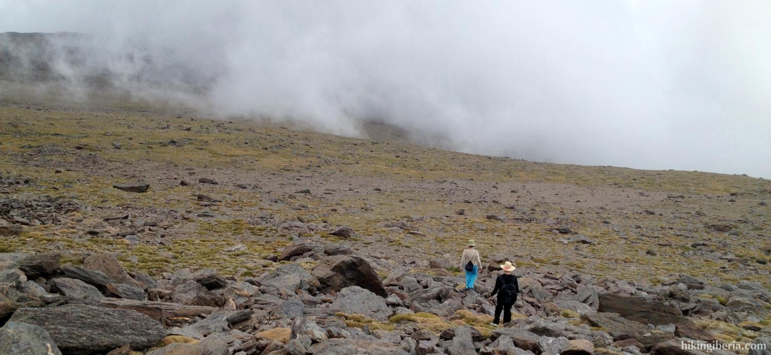 Afdaling naar de Alto del Chorrillo