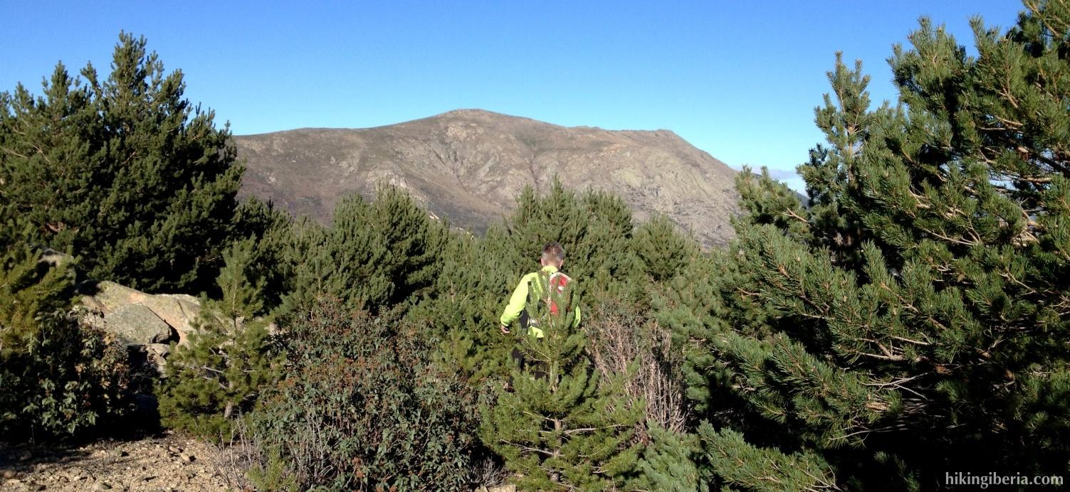 Afdaling vanaf de Pico Pendón