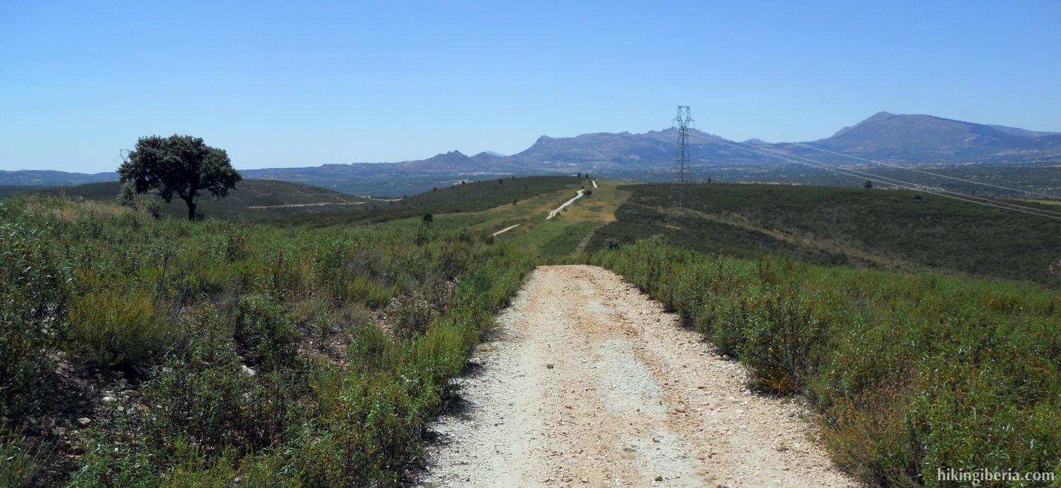 Uitzicht op de Sierra Norte