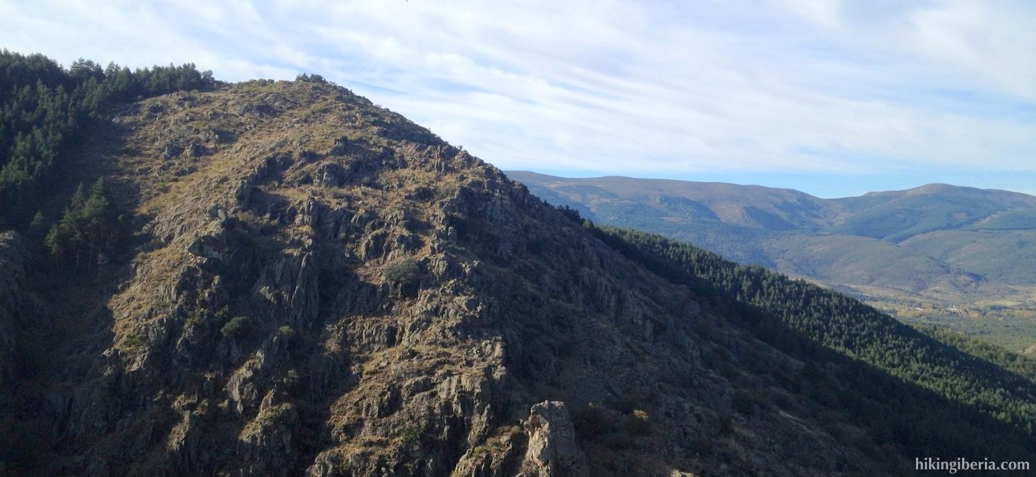 Vista cerca de la Cascada del Purgatorio