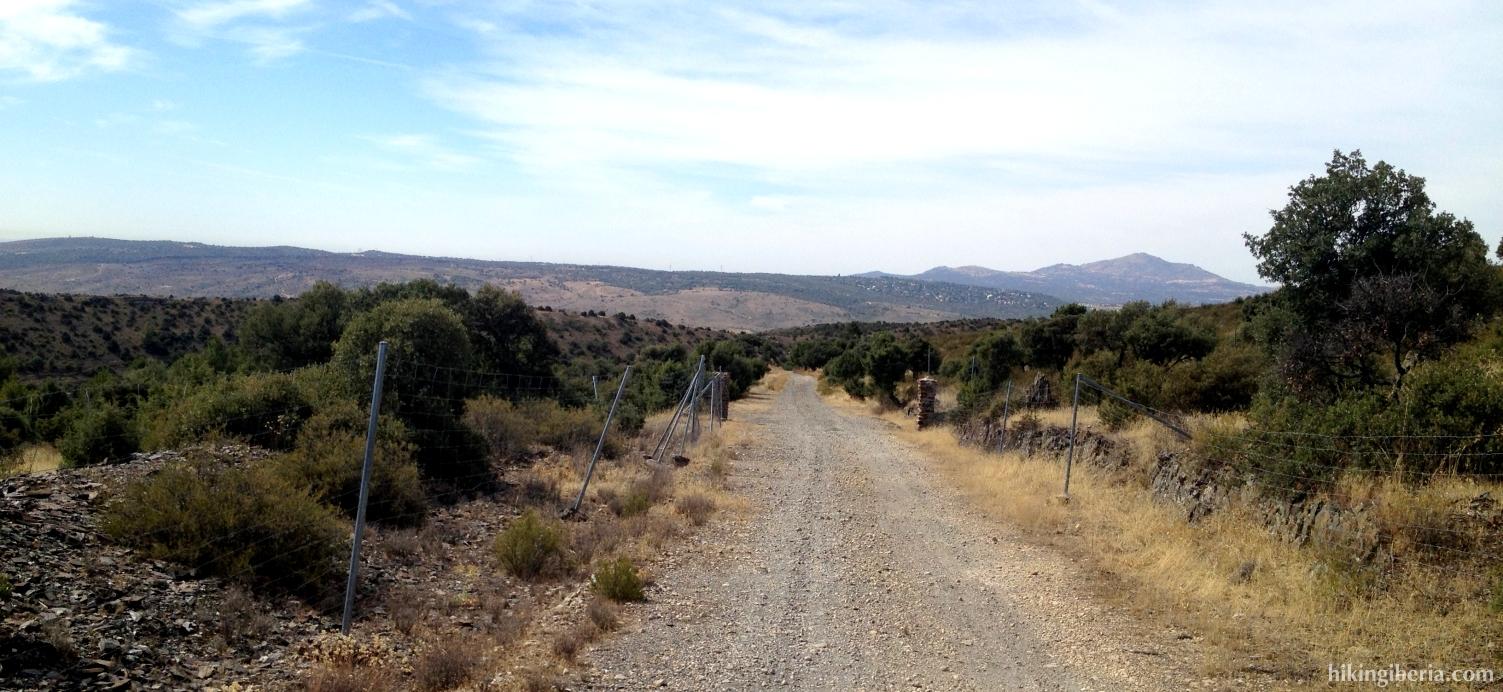 Weg over de Dehesa Vieja
