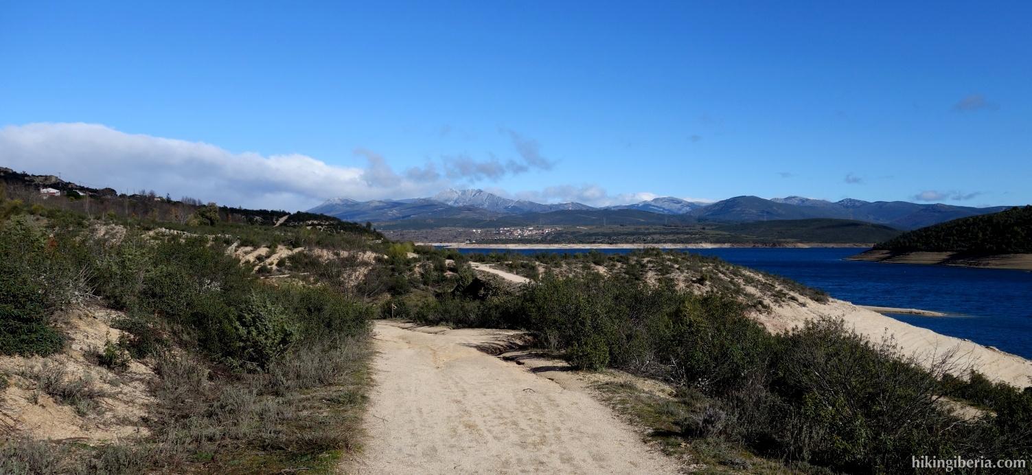 Trail along the Reservoir of El Atazar
