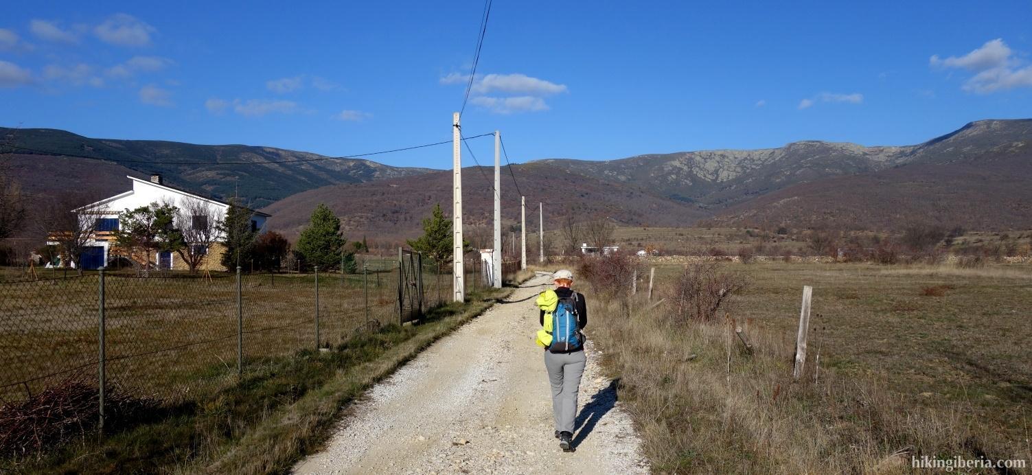 Pad vlakbij Oteruelo del Valle