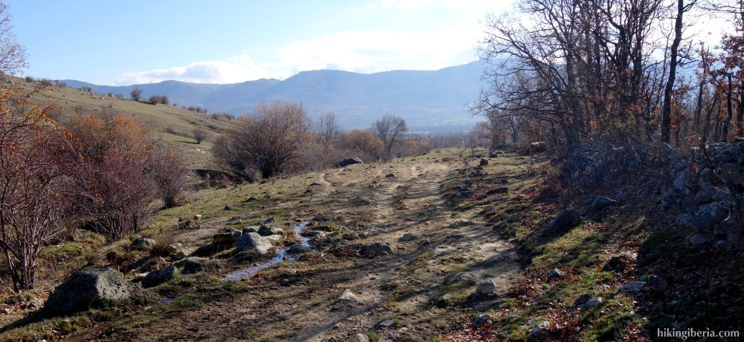 Pad bij de Arroyo de la Zarza