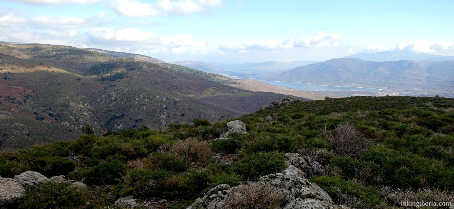Uitzicht vanaf de Loma de Peñas Crecientes