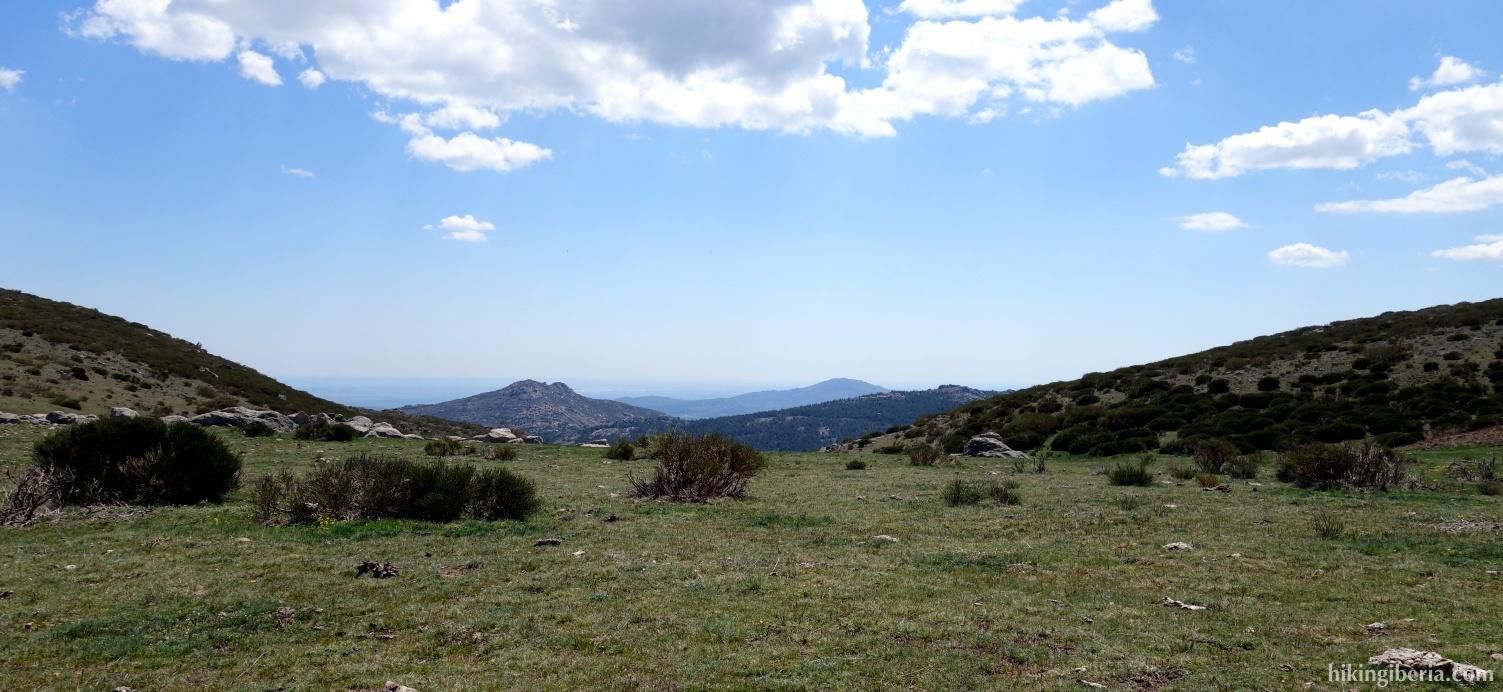 Uitzicht over de Sierra Norte de Madrid
