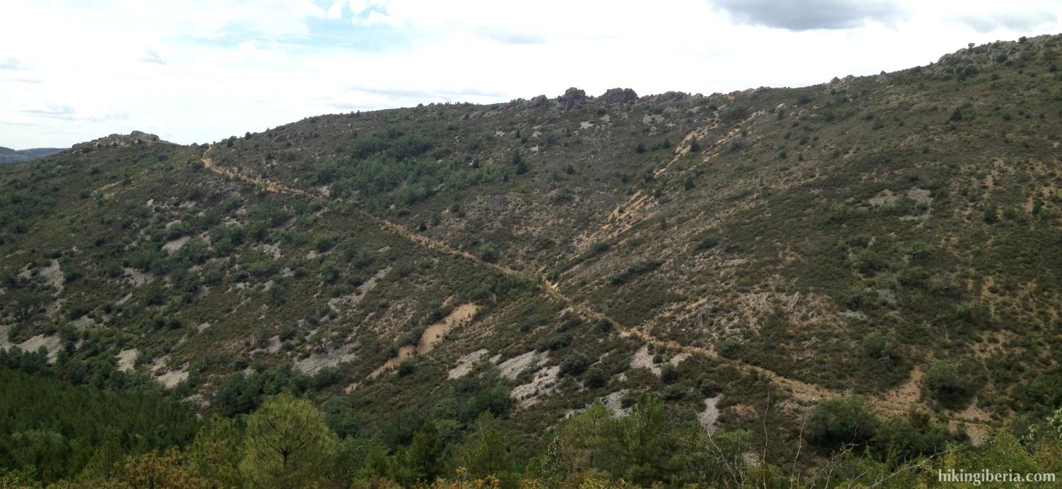 Pad naar de Arroyo Valluengo