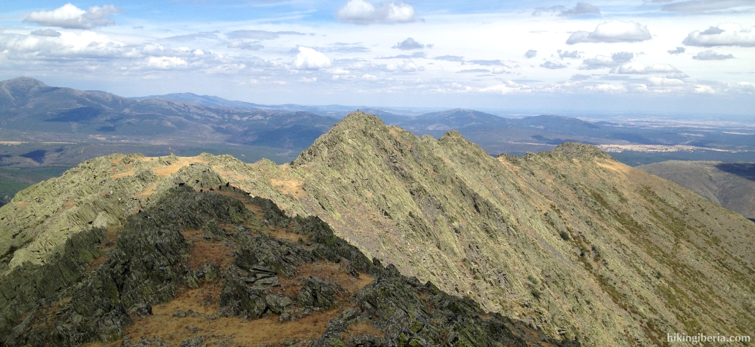 Uitzicht vanaf de Pico Centenera