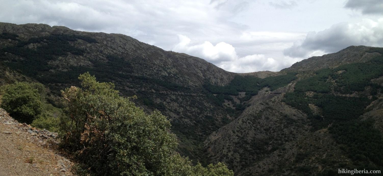 Uitzicht op de Garganta del Portillo