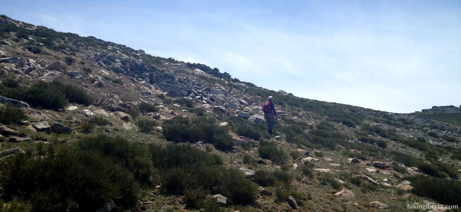 Pfad zum Pico Regajo
