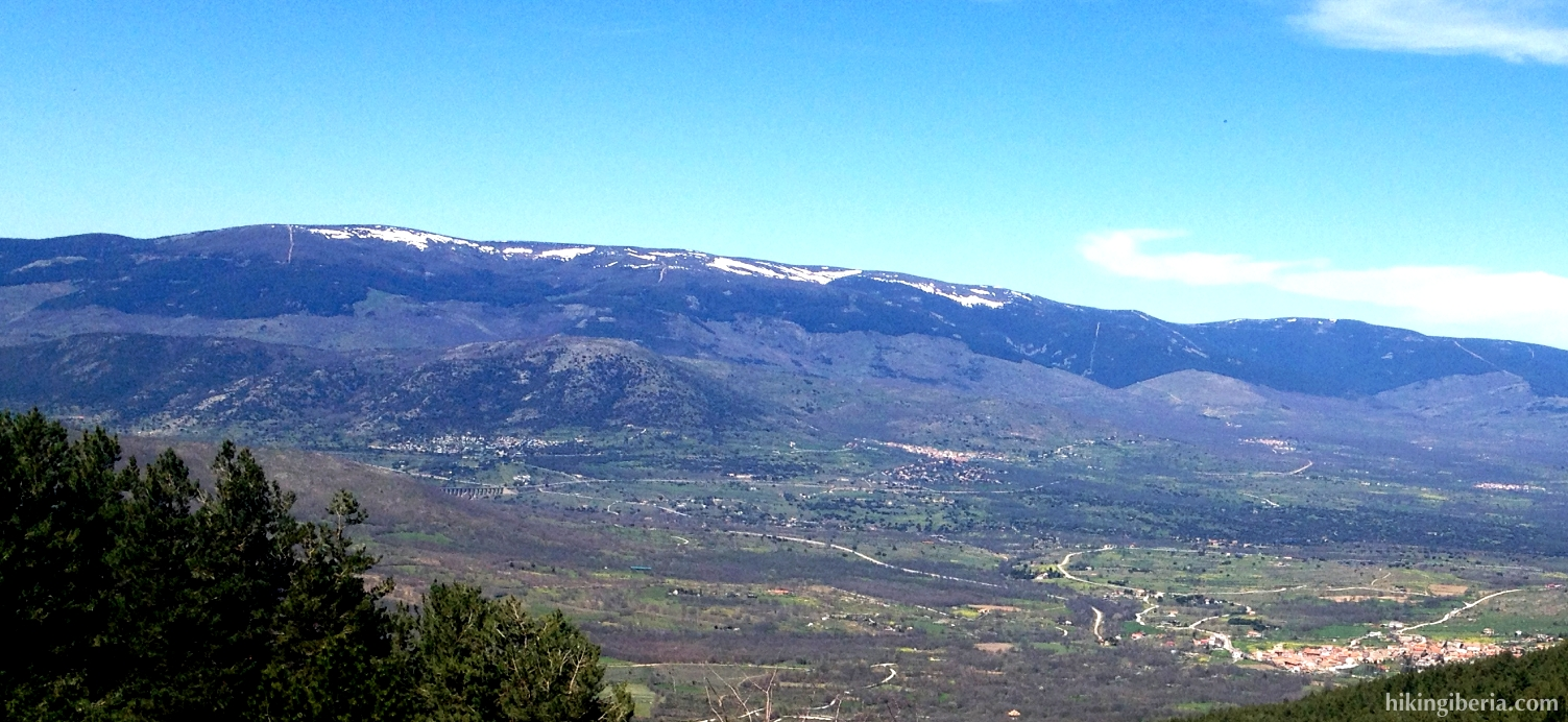 Vista hacia Garganta de los Montes