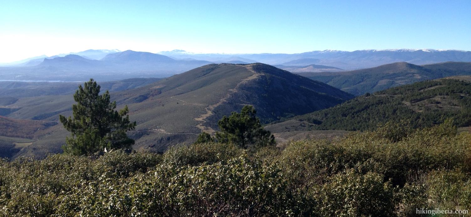 Uitzicht vanaf Pico Somosierra