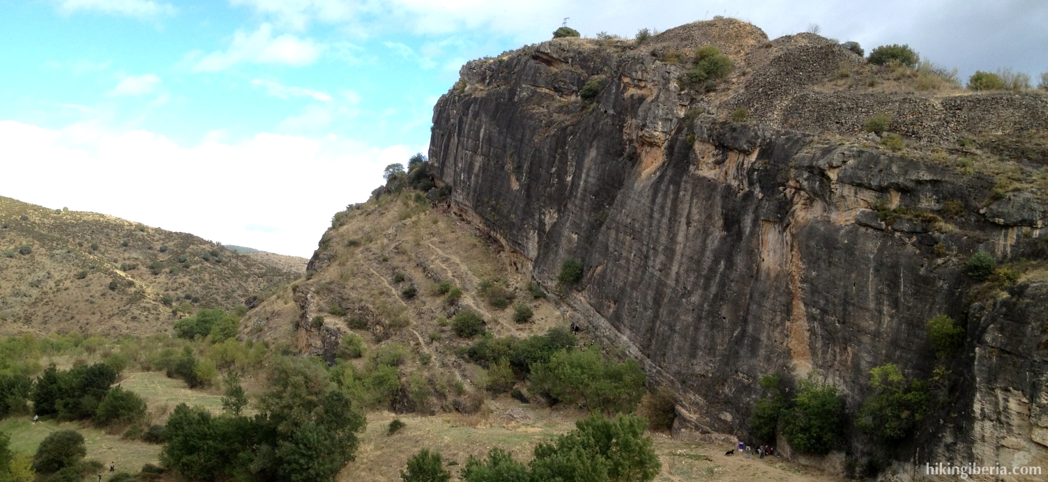 Cliff faces along the river Lozoya