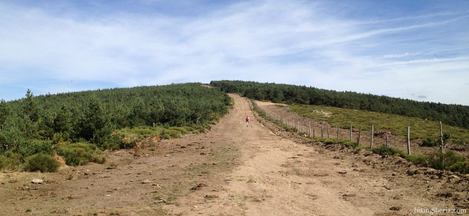 Brandgang richting de Cerro del Gargantón