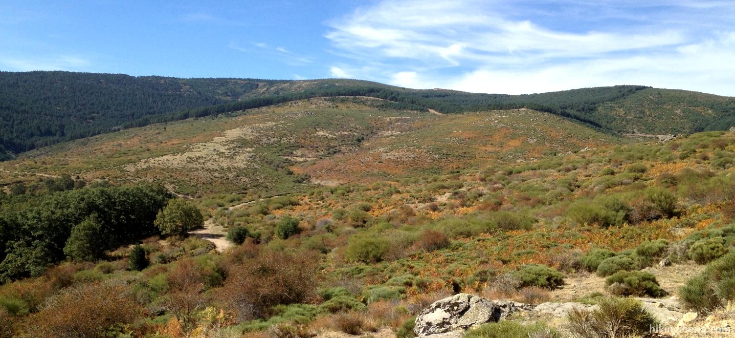 Uitzicht op weg naar de Pas van La Acebeda
