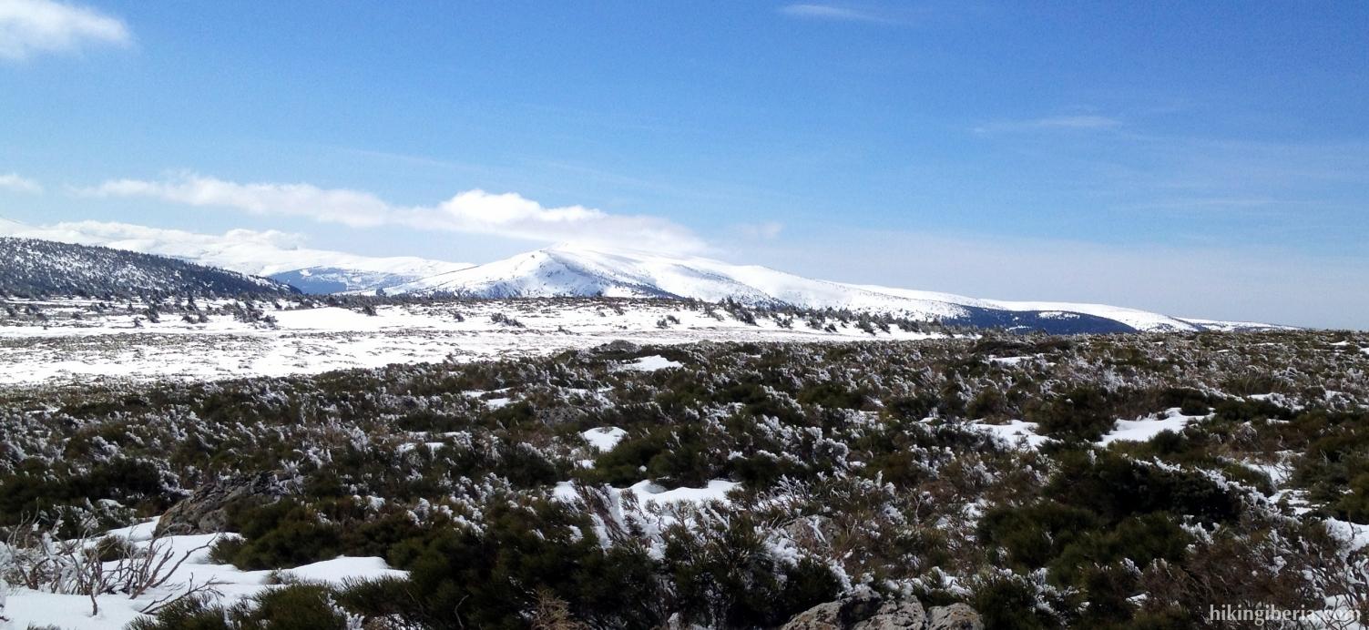 Wintry landscape near the Reajos